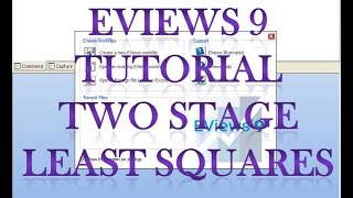 eviews 9 tutorial two stage least squares