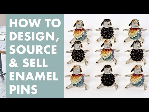 How to Design, Source, and Sell Your Own Enamel Pins