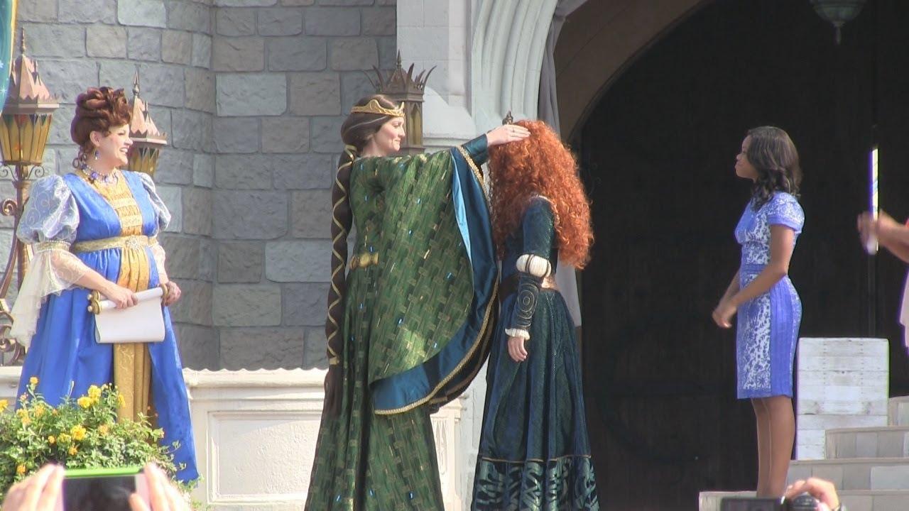 Download Full Princess Merida coronation ceremony at Disney's Magic Kingdom - 11 princesses gather