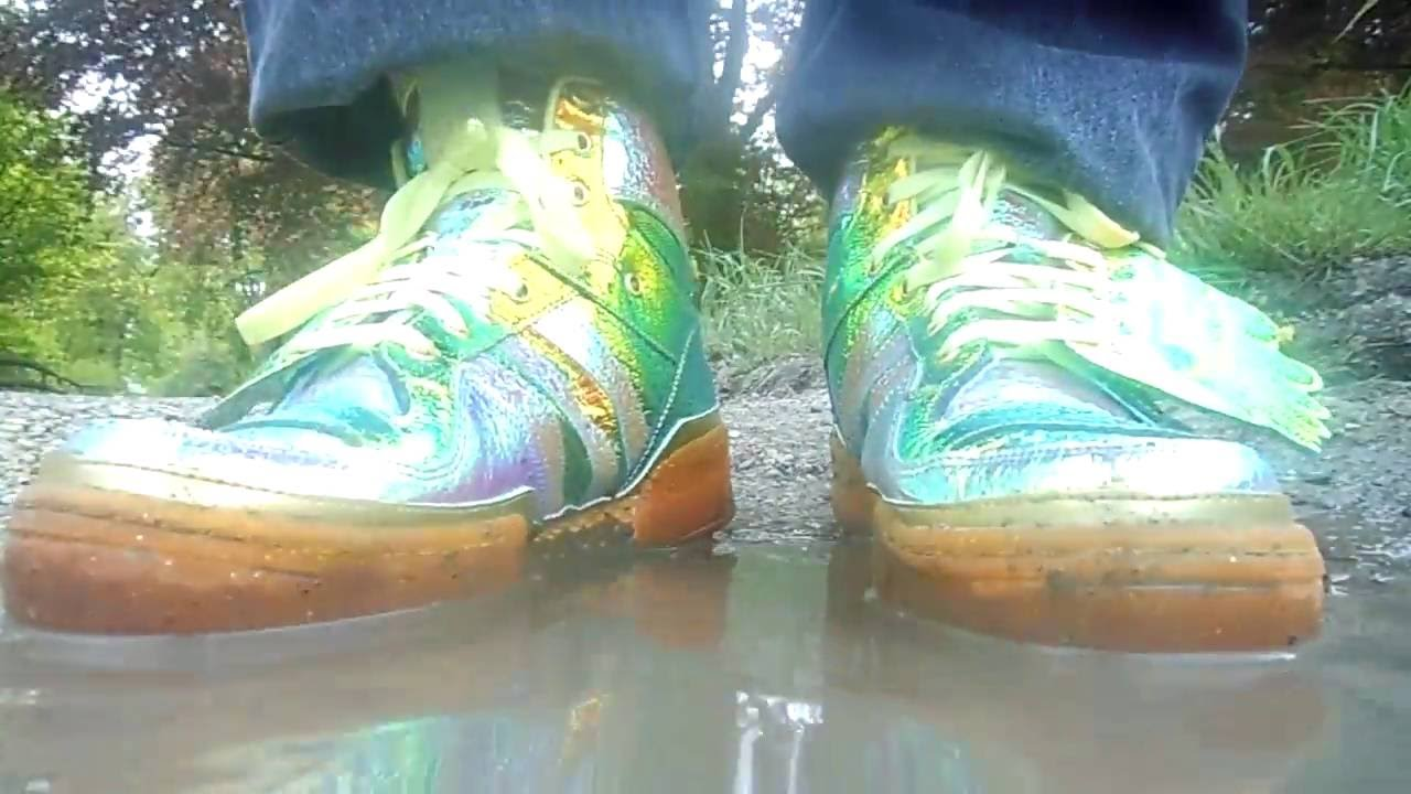 737a5e92c6af78 adidas Jeremy Scott foil wing play in a puddle - YouTube