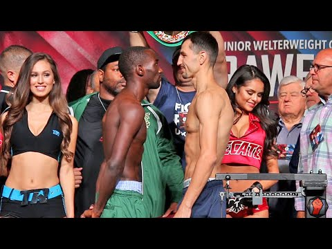 Terence Crawford vs. Viktor Postol COMPLETE Weigh In & Face Off Video