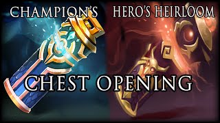 Dota 2 Chest Opening - Hunt For Scorching Talon (champion's And Hero's Heirloom Chest)