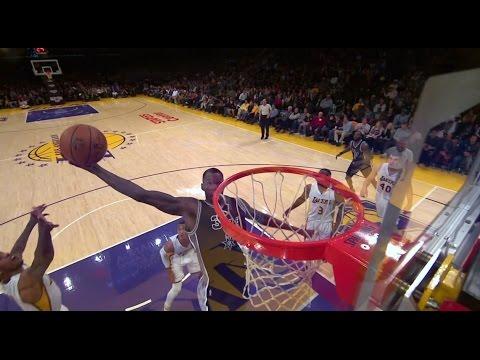 Dewayne Dedmon with the put back dunk