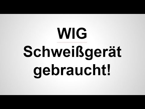 wig schwei ger t gebraucht youtube. Black Bedroom Furniture Sets. Home Design Ideas