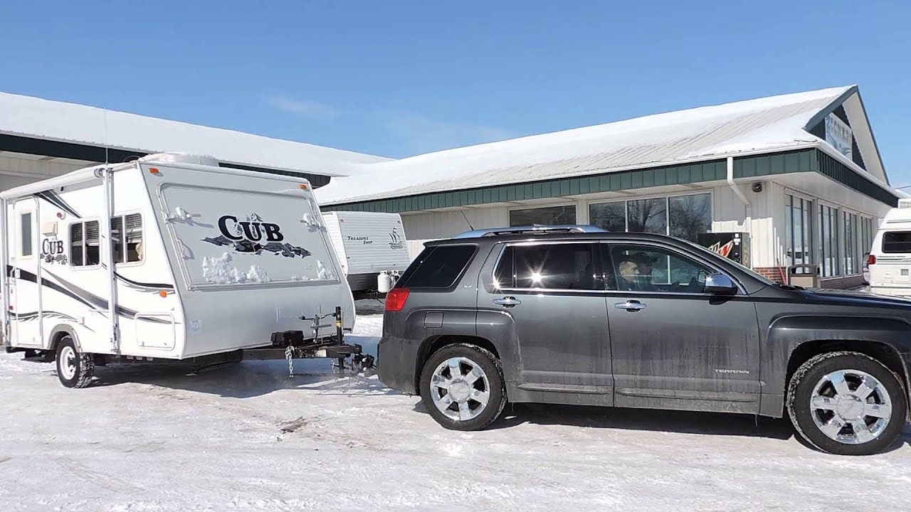Gmc Acadia Towing Capacity >> Customers Leaving With A 2006 Cub Towing It With A Compact 2014 Gmc Terrain Suv Zoomersrvindiana