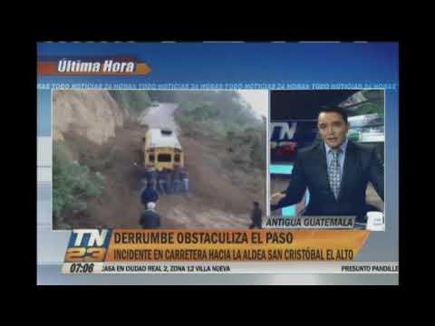 Derrumbe afecta la ruta a San Cristóbal El Alto