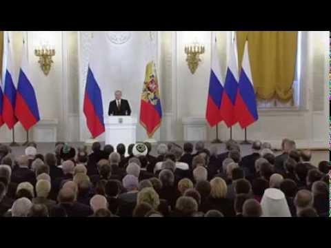 Важное Обращение Путина по присоединению Крыма и проблемам Украины.