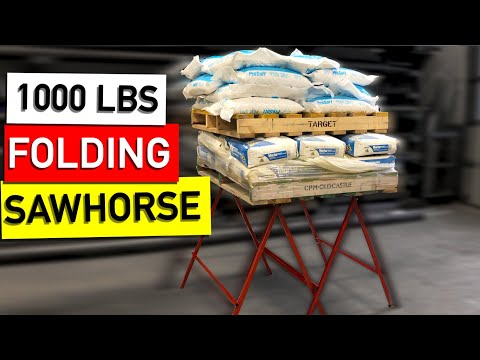 Awesome! SAWHORSE Build Folding Lightweight, Cheap to build - Plans Available