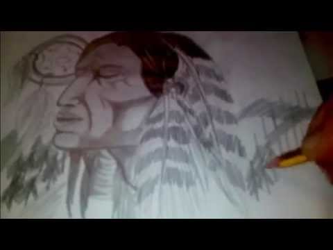Dibujo A Lapiz Paso A Paso Indio Youtube