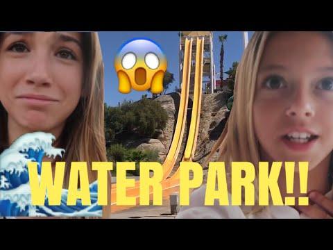WATERPARK water slide | FLOWRIDER wipe out | Swimming Palm Springs | Quinn Sisters