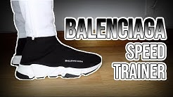 90a945c5353d TRIPLE BLACK BALENCIAGA SPEED TRAINER UNBOXING + REALEST ON FOOT ON ...