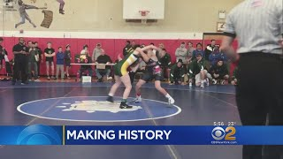 High School Girl Beats Boys On The Wrestling Mat