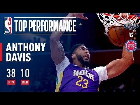 Anthony Davis Shows His Dominance By Dropping 38 Points vs The Pistons