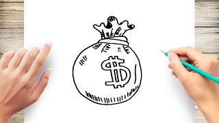 How to Draw Money step by step