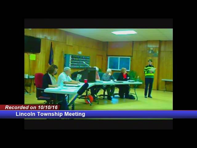 Lincoln Township Meeting 10/10/2016