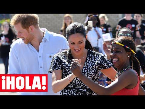 El ritmo de Meghan Markle y el príncipe Harry a su llegada a Sudáfrica