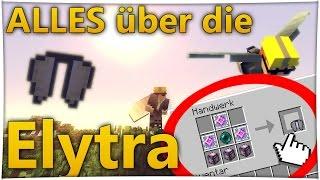 Minecraft Elytra craften ?! Elytra Deutsch und benutzen [Tutorial] - Perfekt fliegen