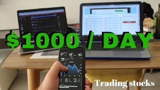 How To Make $1000 a Day Trading stocks From HOME...The Stock Market