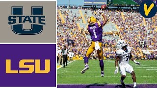Utah State vs #5 LSU Week 6 College Football Highlights 2019