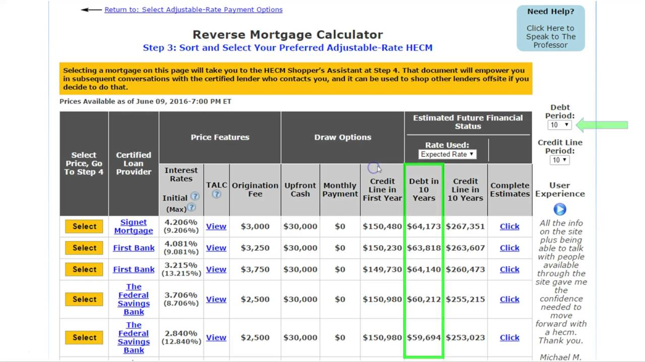 how to use the kosher hecm reverse mortgage calculator upfront cash credit line for future use