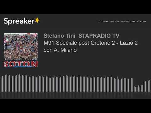 M91 Speciale post Crotone 2 - Lazio 2 con A. Milano
