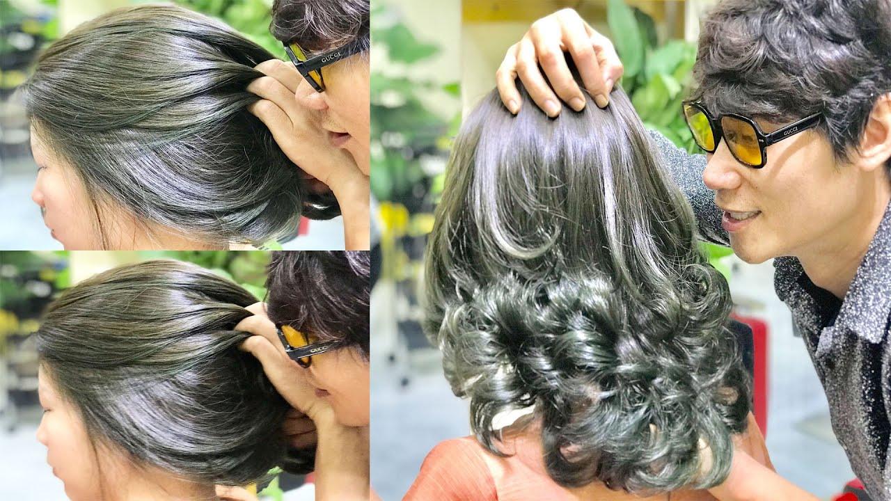 Nhuộm Cân Bằng Màu Rêu Ánh Khói & Khoá Bền Màu | Kevin Huy | Tóm tắt các tài liệu về những màu tóc khói đẹp chi tiết