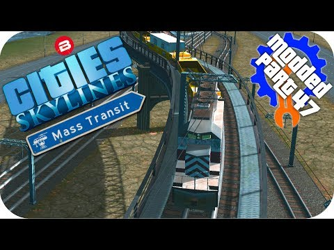 Cities Skylines Gameplay: HIGH SPEED TRAIN FLY OVERS! Cities: Skylines Mods MASS TRANSIT DLC #47