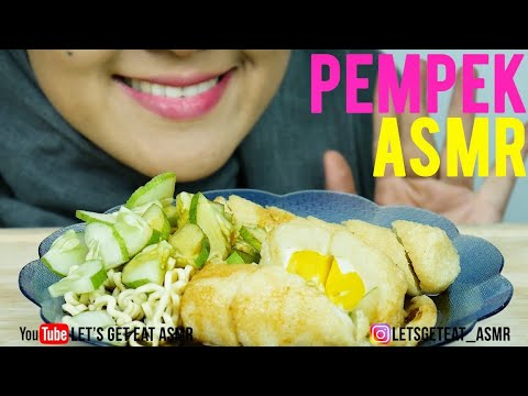#50 Request ASMR Eating Sounds: Pempek aka Indonesian Fried Fish Cake|| No Talking ASMR Indonesia