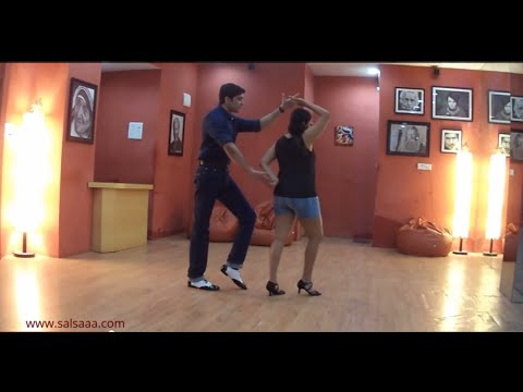 Salsa Beginners Move No.1 :  hammerlock and wrap, turn with a snap.