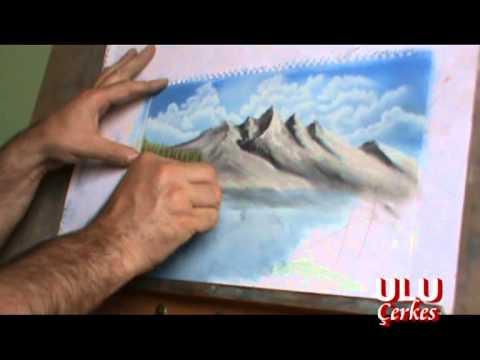Pastel Boya Ve Parmakla Resim çizim Tekniği 16 Erol Ulu Youtube