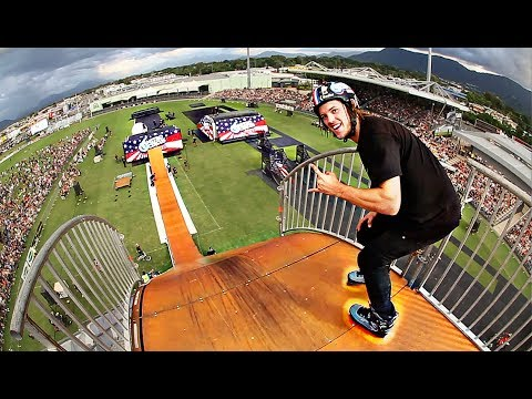 ROLLERBLADES vs MEGA RAMP!