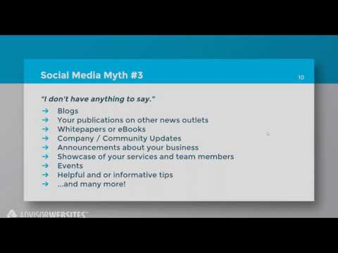 For Financial Advisors: Social Media Practices - Facebook &