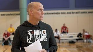 Head Coach Bob MacKinnon Mic'd at Open Tryouts