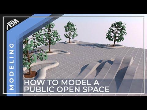 Modeling an open public space 1