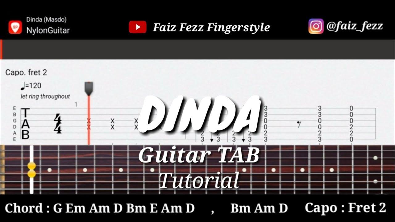 Kugiran Masdo Dinda Fingerstyle Guitar Tab Tutorial Chord