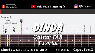 Download lagu DINDA Fingerstyle Guitar TAB Tutorial Chord Faiz Fezz MP3
