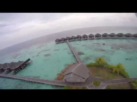 Amazing Hotel Ayada Maldives Resort from above taking by a Drone..