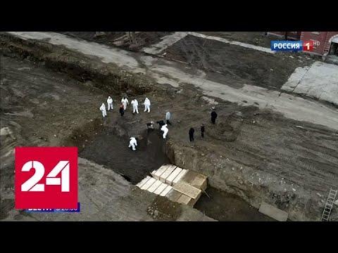 COVID-19 в США: морги переполнены, оставшиеся без работы стоят в очередях за едой - Россия 24