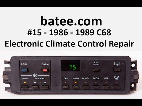 86 89 corvette fix 15 c68 electronic climate control ac HVAC Parts