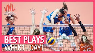 Best Volleyball Plays | Week1 - Day1 | Women's VNL 2019
