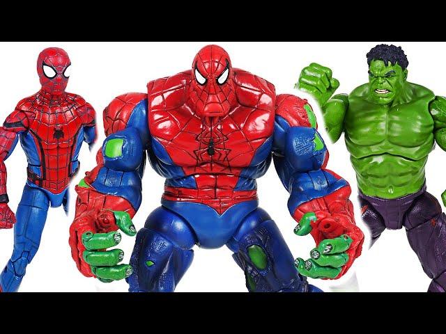 Marvel Avengers Hulk and Spider Man combine! Spider-Hulk!! Defeat the Thanos!   DuDuPopTOY