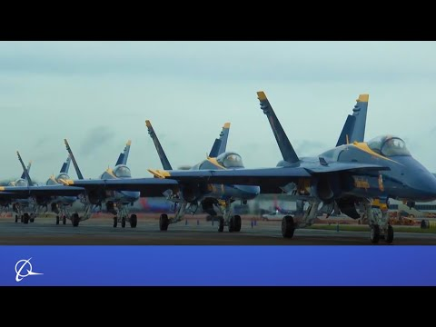 Blue Angels Visit Boeing