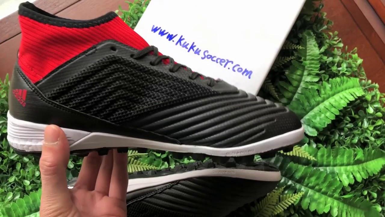 aa8b1f3a6225 Adidas Predator Tango 18.3 TF - Core BlackWhiteSolar Red - YouTube