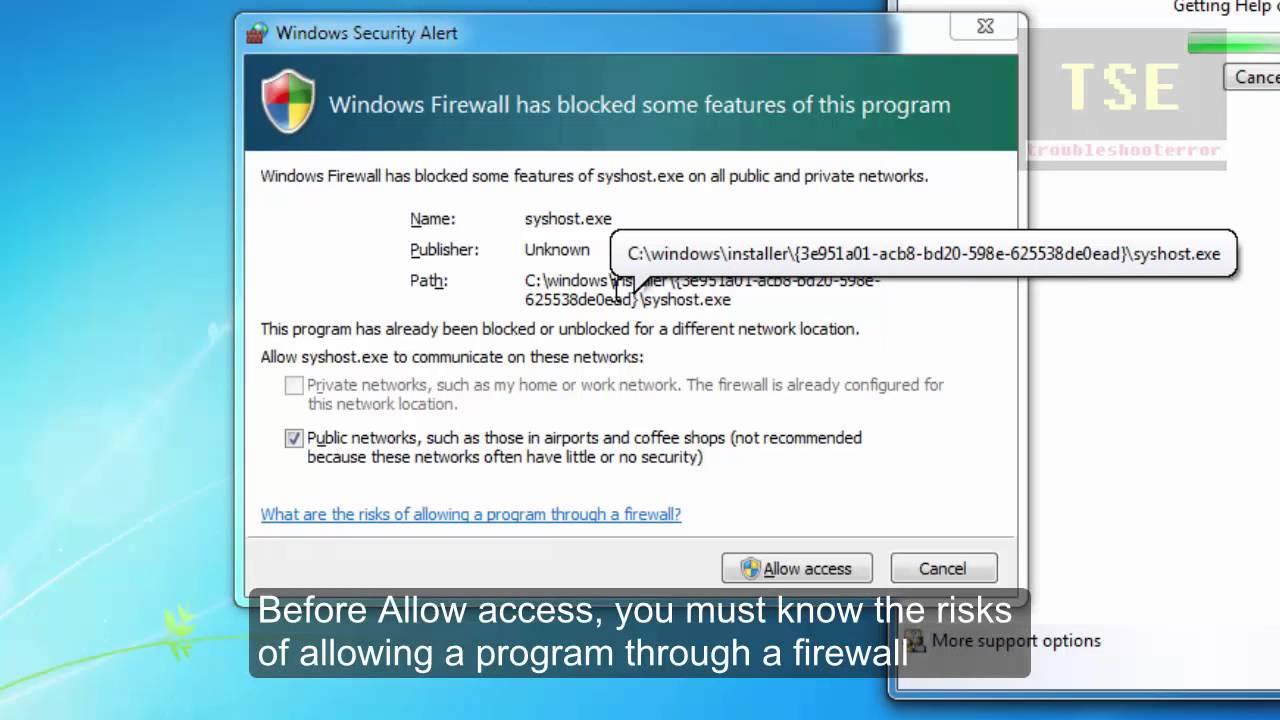 allow website through windows firewall