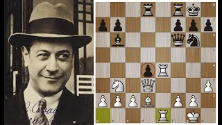 Хосе Рауль Капабланка ВИРТУОЗНО переигрывает Рубинштейна!Шахматы.