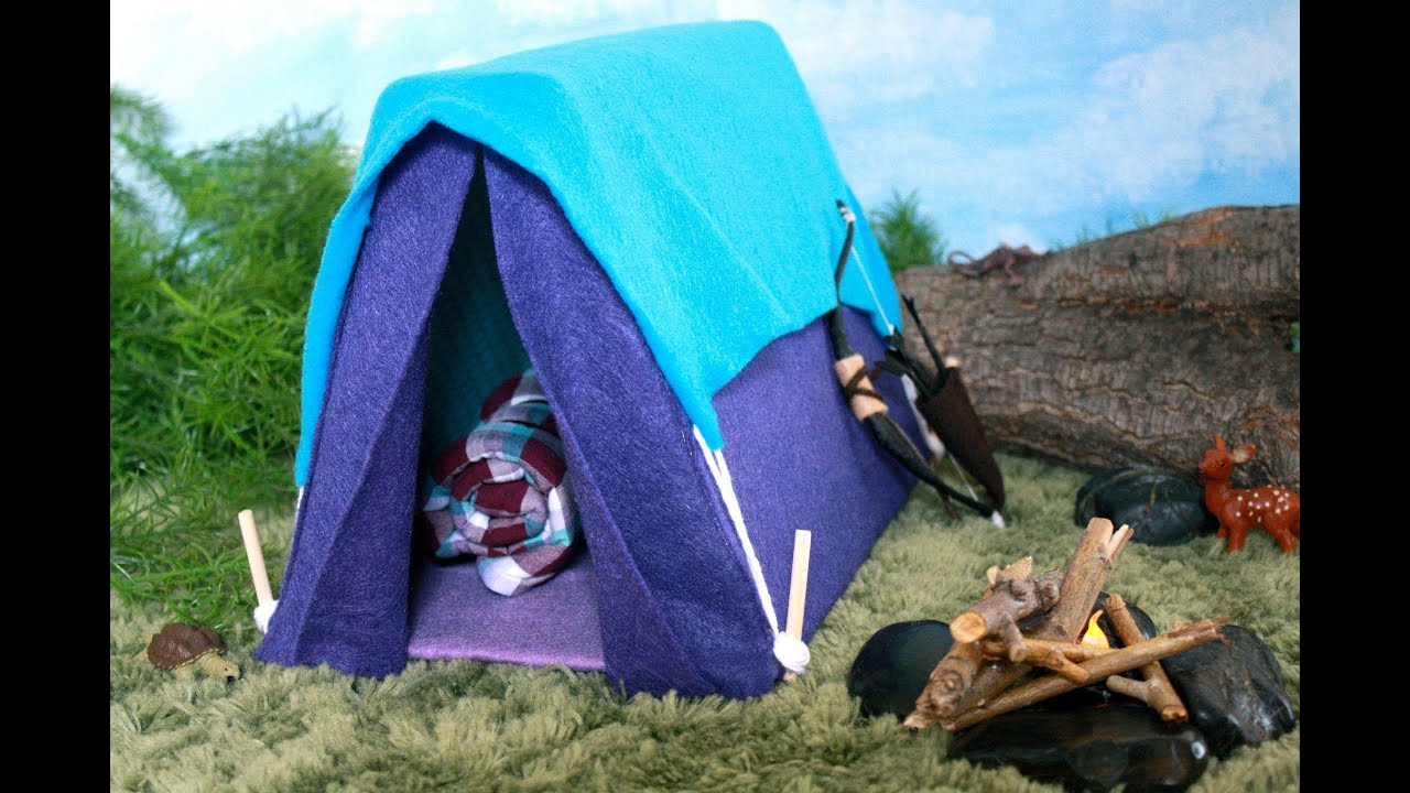 How To Make A Tent How To Make A Doll Tent Doll Crafts Youtube