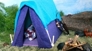 How to Make a Doll Tent - Doll Crafts thumbnail