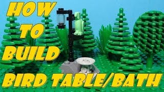 How To Build A Lego Bird Feeder & Bath