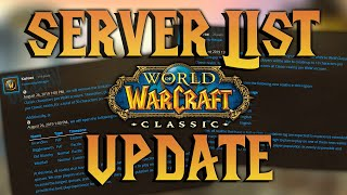WoW Classic: Realm List Full, New Server Name Updates (Bigglesworth! Old Blanchy!) & more!