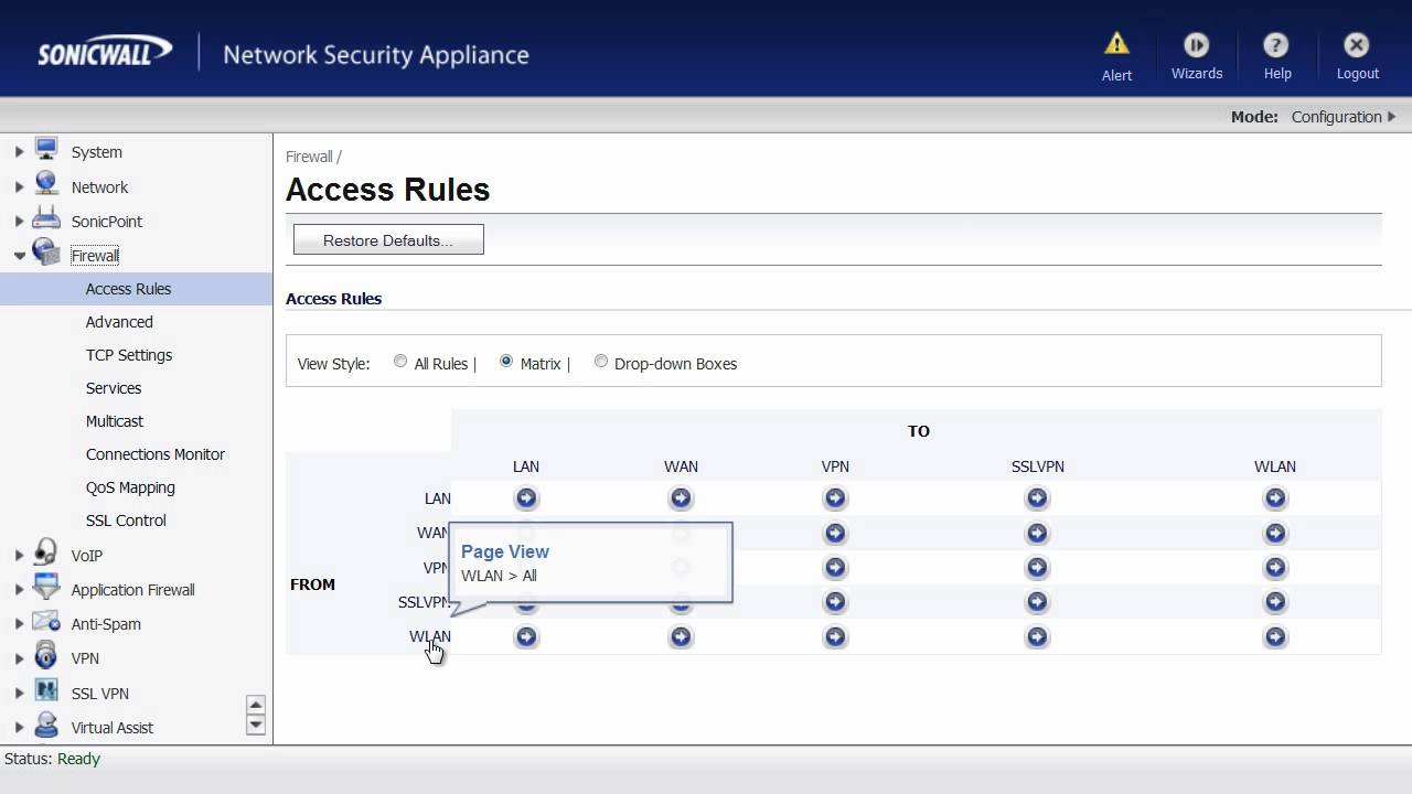 Securing SonicWALL VPN Tunnel with Rule Supression